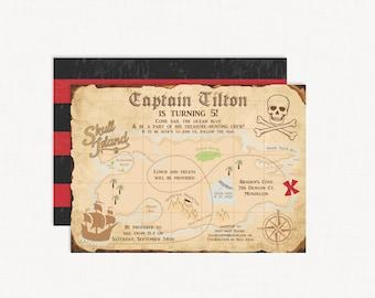 Pirate Invitations | Treasure Map Invitations | Pirate Party | Pirate Birthday Invitations | Pirate Birthday Invite | Pirate Birthday Party
