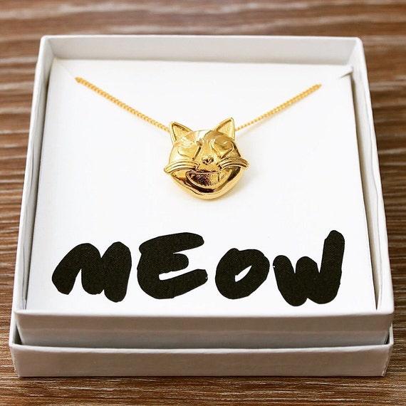 Cat Emoji Necklace Kitty Emoji Jewelry Kitty Cat Emoji