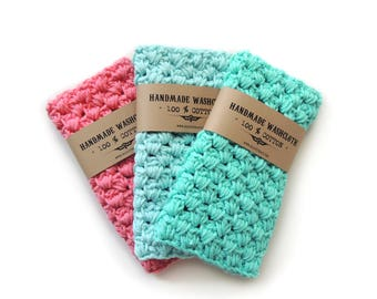 WASHCLOTH Cotton Stocking Stuffer Mom Gift for Her Women Gifts for Mother Gift for Wife Gift Hostess Women Washcloth Crochet Washcloth