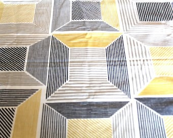 Fabric upholstery graphic yellow and gray 70 x 50 cm