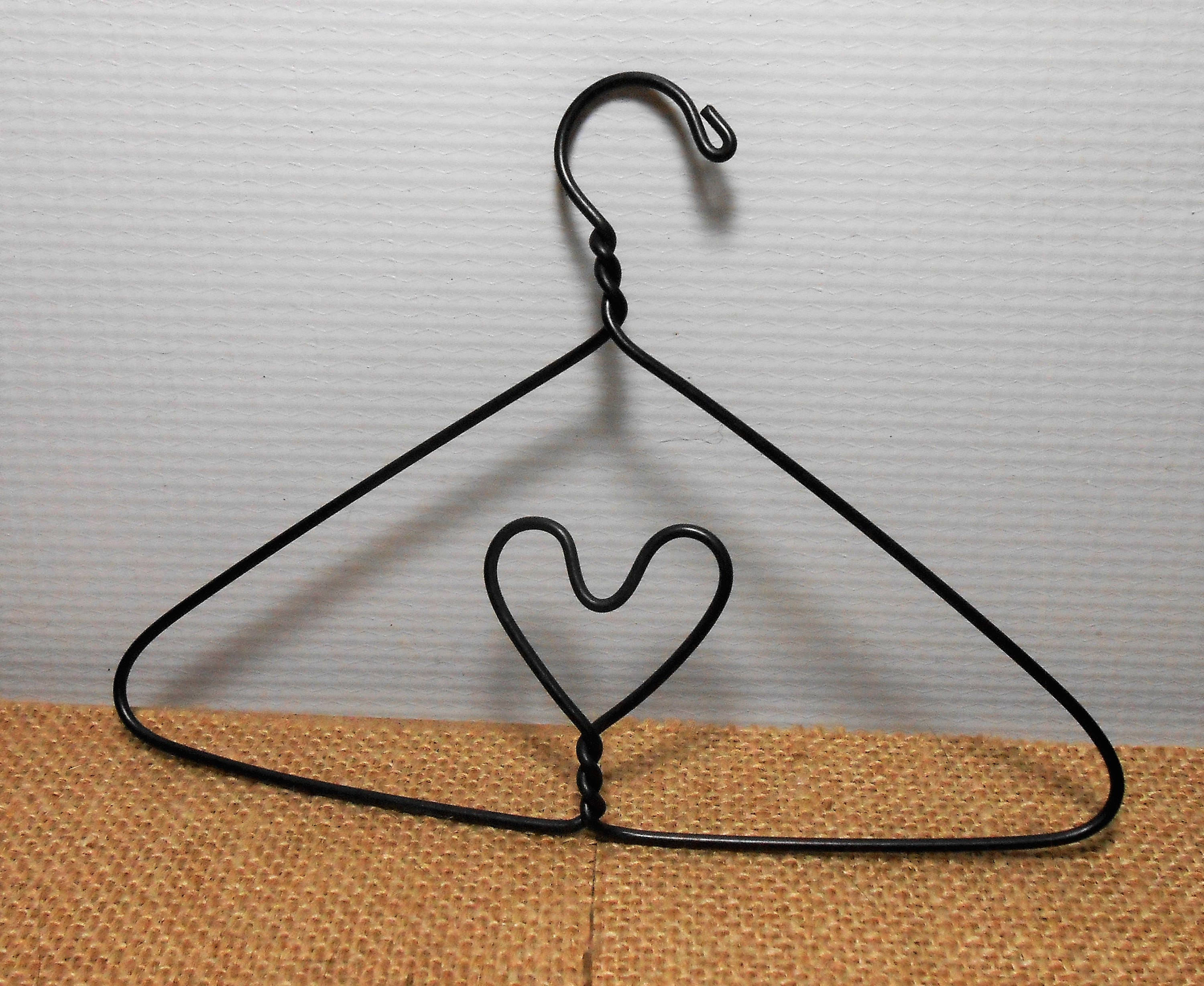 Vintage Wire Hangers, Heart Hangers, Small Hanger, Doll Clothes ...