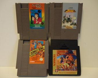 4 cartridges! Donkey Kong Classics - Jackal - Legend of Kage - NES video game lot bundle Nintendo Entertainment System regular console group