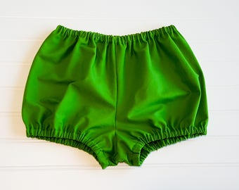 Grass Green Bloomers, Solid Bloomers, Bloomers, Diaper Cover, Bloomies, Baby Bloomers, Nappy Cover, Bummies