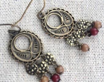 Gypsy boho hippy earrings