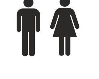 ... F U T U R E H O M E Men Bathroom Sign For Modern Style ...