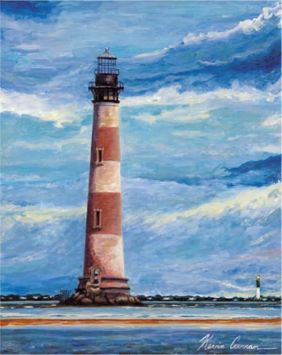 Charleston Lighthouses by Kevin Curran, Morris island, Sullivan's Island