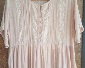 Vintage Boho Maxi Dress Size 12  100% cotton