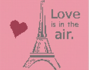 Paris Love Cross Stitch Pattern