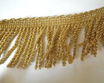 Gold Fringe Trim Upholstery Clothing Trim