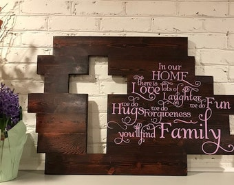 handmade wooden cross cutout