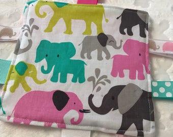 Elephant Baby  Crinkle Toy
