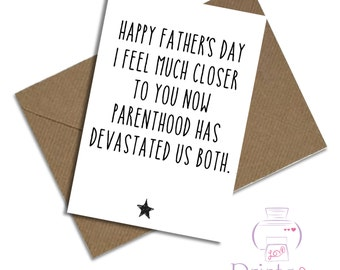 Father's Day card Funny devastated