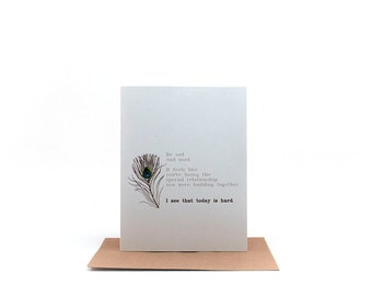 today is hard | empathy card | just because card | thinking of you greeting card