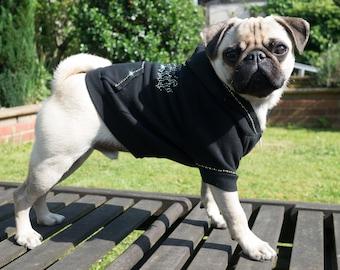 Pug Life - Swarovski Crystal Dog Hoodie