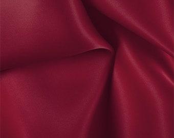 Red Silk Satin Organza, Fabric By The Yard