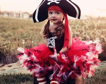 STOREWIDE SALE Pretty Little Pirate Tutu Dress, Hat, and Legwarmers
