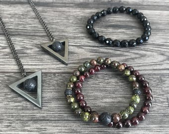 Dragon's Blood Jasper Diffuser Bracelet