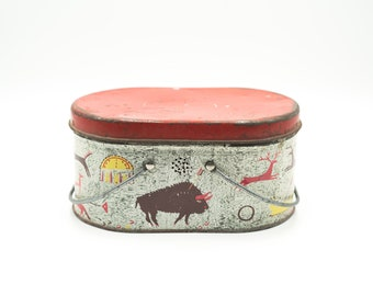 Vinatge buffalo tin lunch box