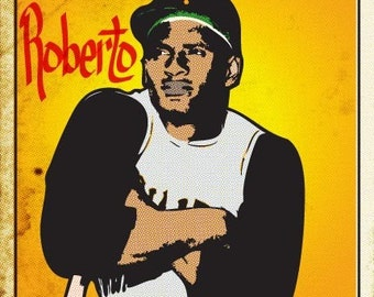 Roberto Clemente Print 11x17 - Famous Seniors
