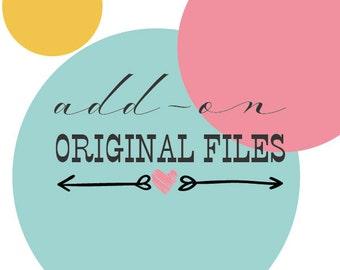 Custom logo design original files / Original artwork files add-on