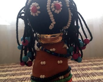 Vintage Ndebele doll from South Africa