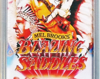 Blazing Saddles Gene Wilder Cleavon Little movie poster Fridge Magnet & Keyring Mel Brooks - New