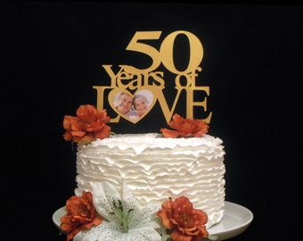 Years Of Love Cake Topper, Heart Anniversary Cake Topper, Personalized Anniversary Cake Topper, Customized With ANY Anniversary Number