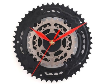 Wall Clock Bike Clock Bicycle Clock Cyclist Gift Wall Art Decor Handmade Gift Idea Sprocket Clock Bike Parts Modern Clock Cycling Decor