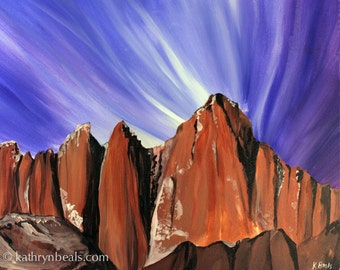 Mt. Whitney Landscape Painting - Sequoia Canvas Print