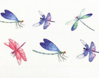Dragonfly Washi Tape, Insect Washi Tape, Washi Tape