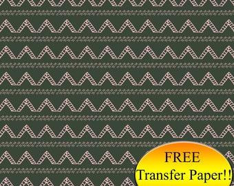 Pink & Green Tribal Triangles Pattern Printed HTV - Adhesive Vinyl - Patterned Vinyl - Printed Heat Transfer Vinyl - Printed Pattern Paper