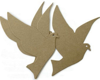 Bird in Flight Chipboard Die Cuts - Bare Alterable Embellishments