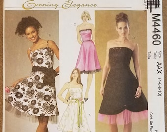 McCall's 4460 - Misses Formal Dress Pattern - Wedding, Prom, Special Occasion Dress Pattern - Sizes 4, 6, 8, 10