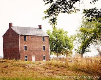 rustic country photography, appomattox, virginia, civil war jail, rustic farmhouse decor, farm landscape photo, rustic home decor