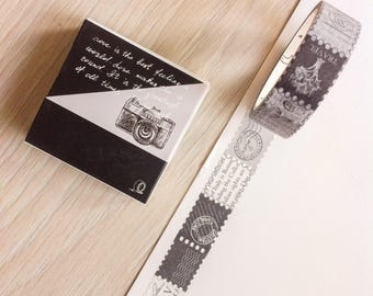 Cute washi tape -  b&w - stamps | Cute Stationery