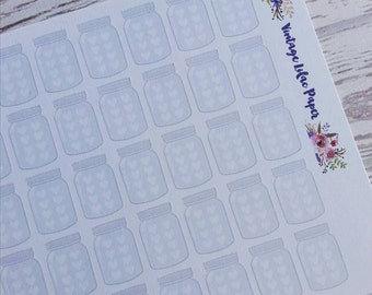 60 Mason Jar Hydrate Planner Stickers
