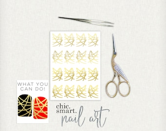 Heart Strings V. 1  : Vinyl Nail Decals - 32 Color Choices