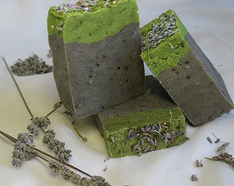 Lavender Soap with Silk on Shea Butter