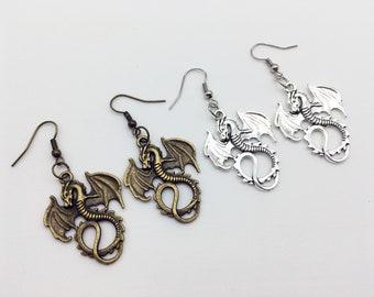 DRAGON Earrings Dragon Jewelry Dragon Gift Fantasy Earrings Fantasy Gift Fantasy Jewelry Monster Earrings Monster Gift Mythology Earrings