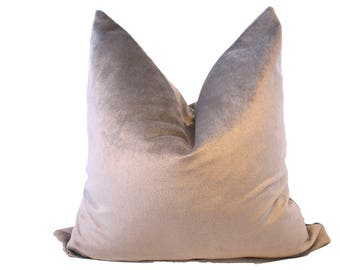 Grey Mauve Ultra Velvet Pillow