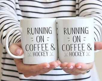 Hockey Coffee Mug, Hockey Mug, Ice Hockey, Gift for Dad, Hockey Gift, Hockey Fan, Coffee and Hockey, Mug for Dad, Sports Fan