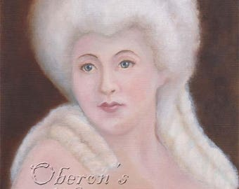 Fairy Godmother, Faerie Art, Faerie Guardian, Powdered Wig, Fairy Art Print, ( A4 Print )