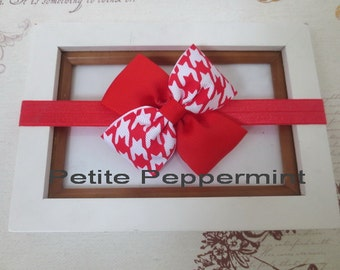 Red Bow baby headband,baby hair bow,toddler headband,baby head band,baby bow headband, newborn headband, Girl headband bow,red baby hair bow