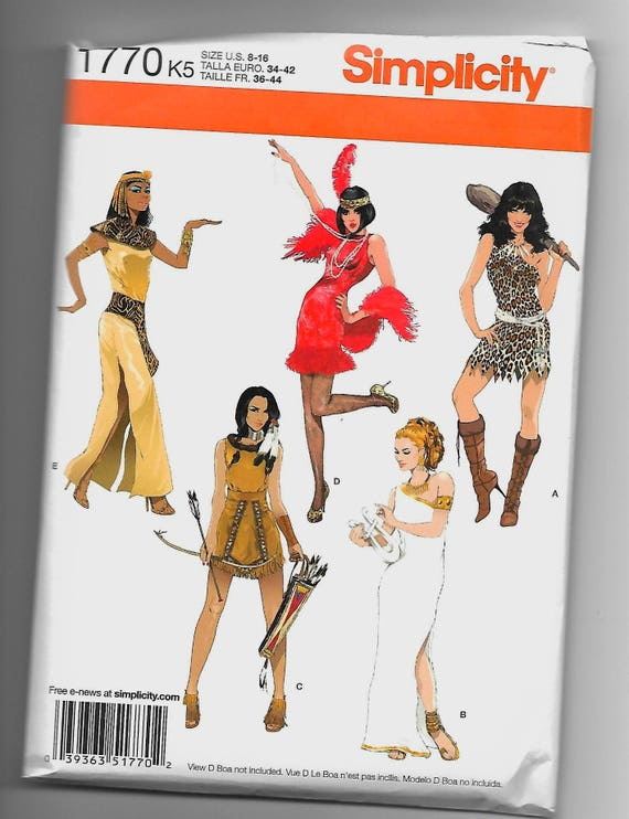 1770 Simplicity 5 Women\'s Costumes Sewing Pattern Sizes 8-16 ...