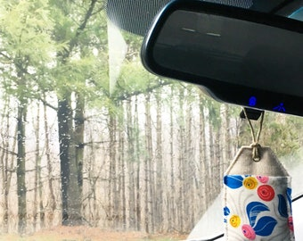 Car Air Freshener - Natural Air Freshener -Aromatherapy Sachet - Lavender - Car Fragrance -Car Diffuser -Car Accessories For Women-Mom Gifts