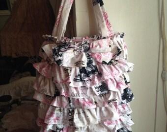 ruffled tote/gift bag
