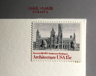 Architecture - Smithsonian Issue || Set of 5 unused vintage postage stamps