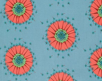Mod Corsage by Anna Maria Horner for Free Spirit - Centered - Sky Blue - 1/2 yard Cotton Quilt Fabric 916