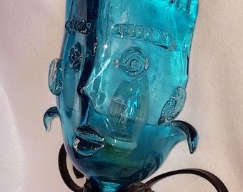 Italian Made Murano Face/Mask Light Sconce by Martinuzzi for Cenadese