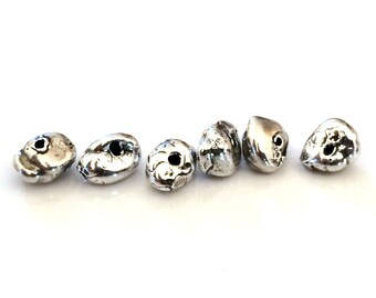 Spacer Bead Nuggets Sterling Silver